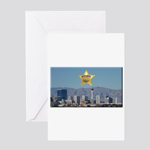 Clark County Sheriff Vegas Skyline Greeting Card